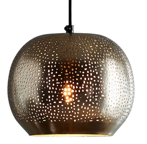 Pantheon Round Iron Pendant Light