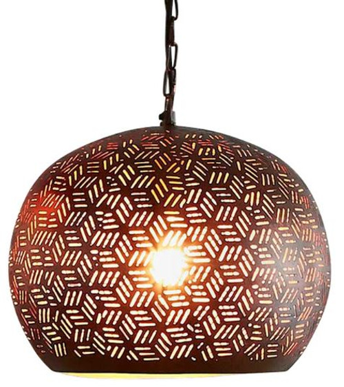 Centaurs Bronze Dome Pendant Light
