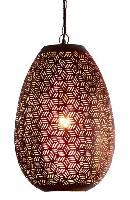 Orion Perforated Pod Pendant Light - Medium