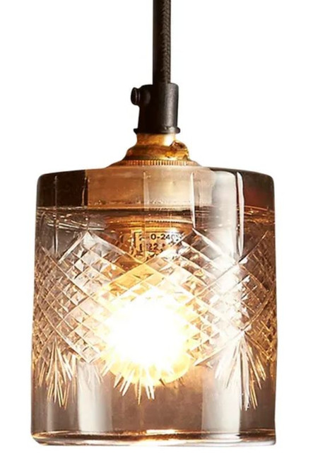 Ambrose Super Diamond Hand Cut Glass Pendant Light