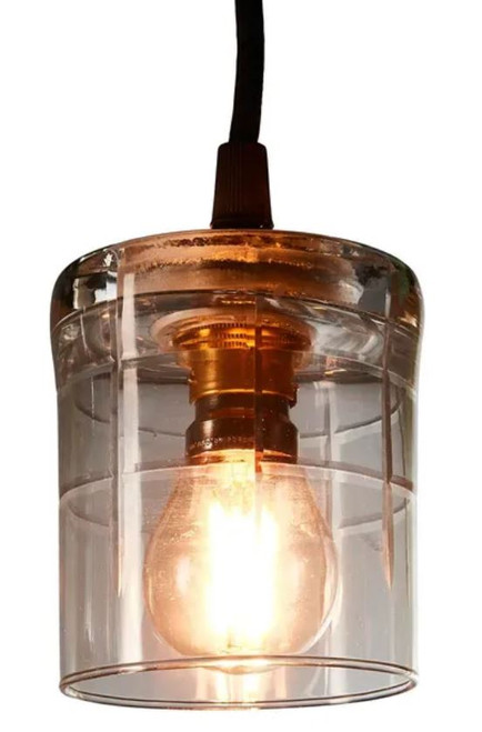 Ambrose Square Hand Cut Glass Pendant Light