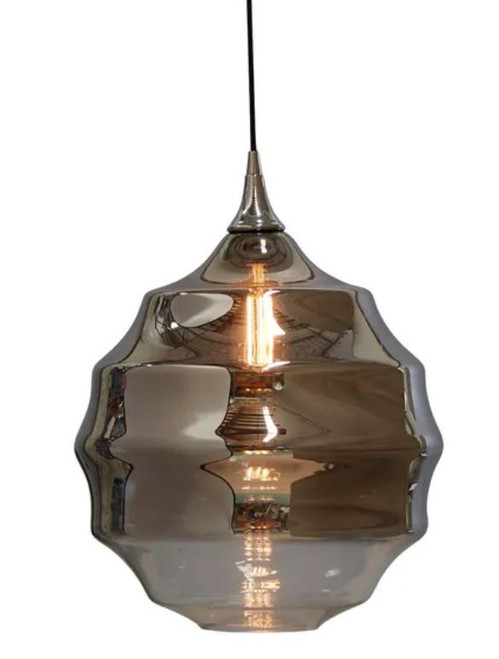 Lumiere Two-Tone Smoke Grey Glass Pendant Light