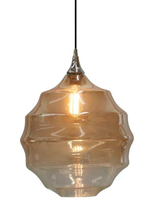 Lumiere Two-Tone Champagne Glass Pendant Light
