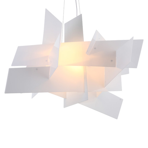 Replica Foscarini Big Bang Chandelier in White with Warm White Bulb