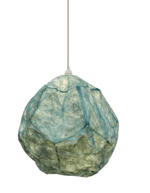Igneous Sky Blue Round Paper Pendant Light