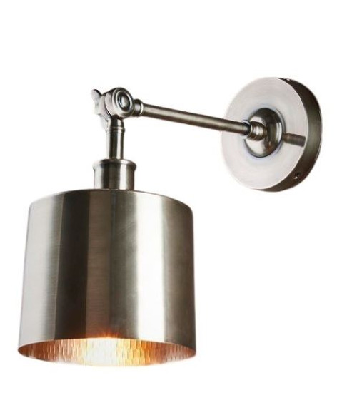 Princeton Antique Silver Wall Light