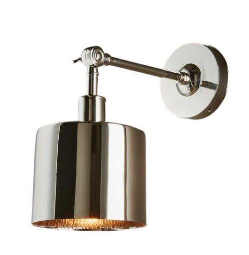 Princeton Shiny Nickel Wall Light
