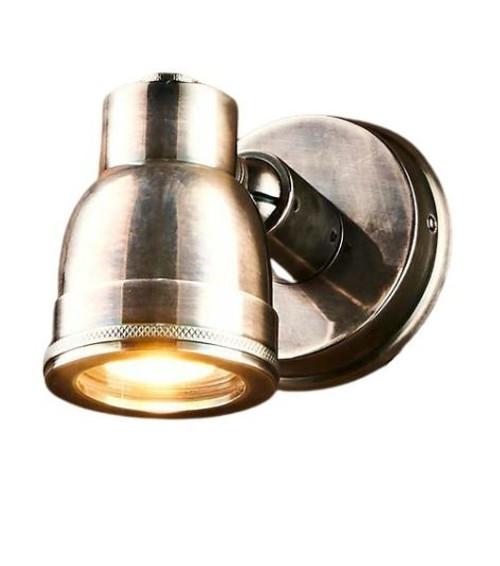 Pittsford Outdoor Antique Silver Wall Light