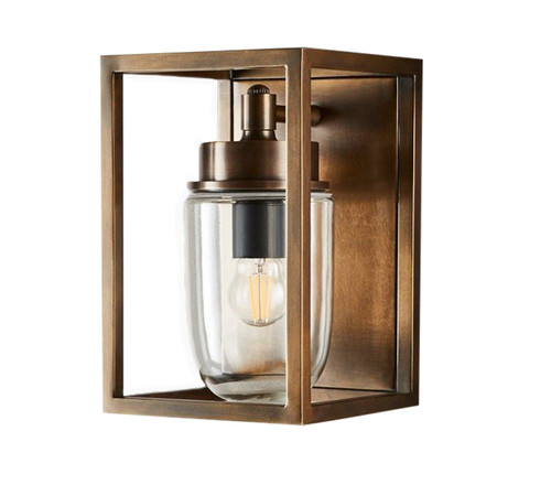 Waldorf Classic Antique Brass Outdoor Wall Light