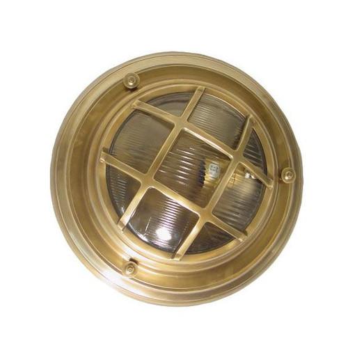 Jayden Outdoor Brass Porthole Wall Light