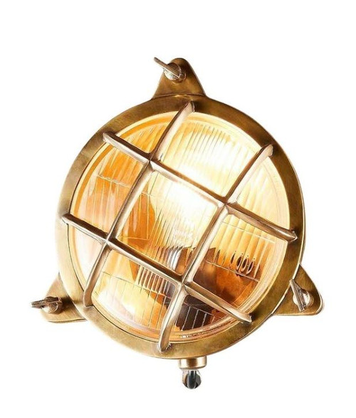 Parrington Outdoor Antique Brass Wall Light