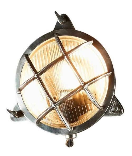 Parrington Outdoor Antique Silver Wall Light