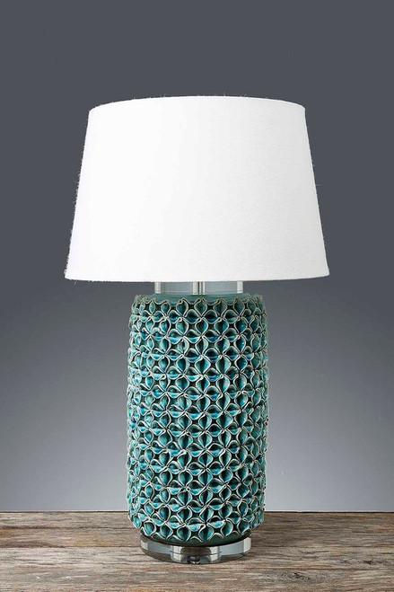 Wyoming Turquoise Cylinder Table Lamp