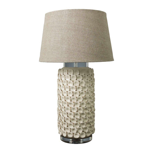 Kingsworth Cream Cylinder Table Lamp