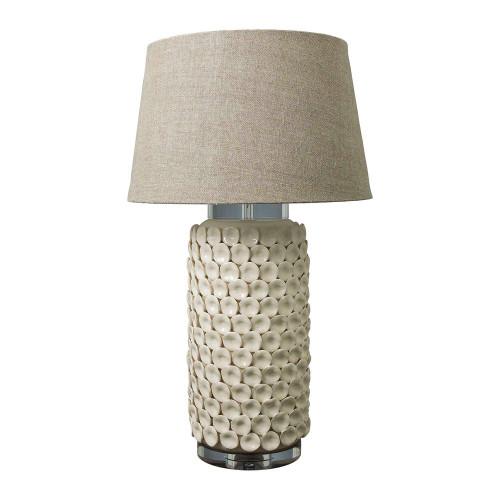 Kingsworth Cream Cylinder Table Lamp