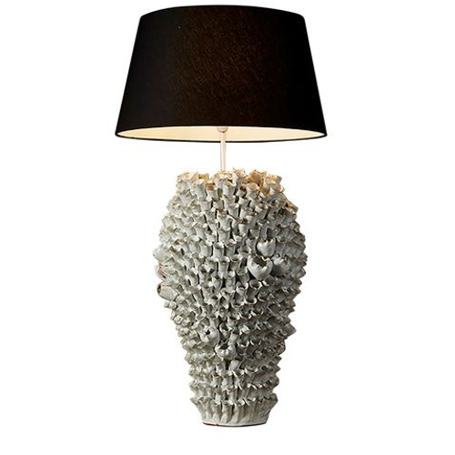 Salma White Coral Table Lamp