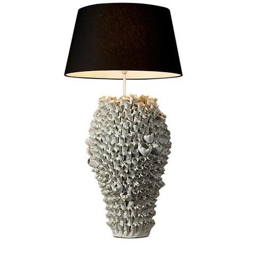 Salma White Coral Table Lamp