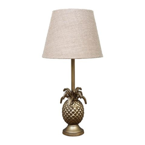 Paradise Pineapple Brass Table Lamp