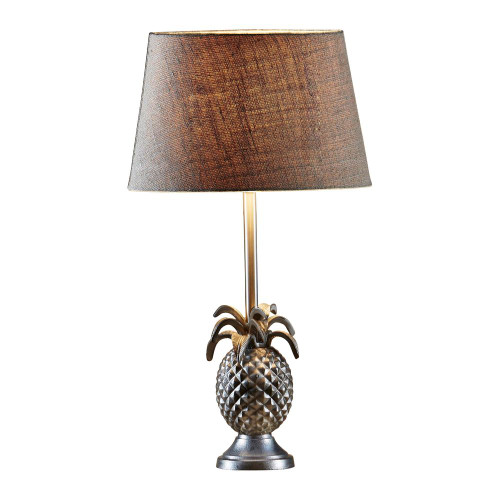 Paradise Pineapple Antique Silver Table Lamp