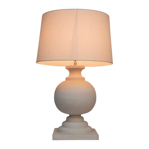 Cleo White Wooden Table Lamp