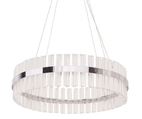 Elise Drum Crystal Chrome Pendant Chandeliers