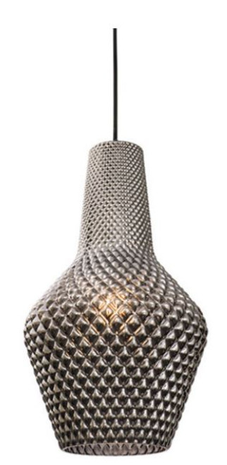 Albie Smoke Glass Pendant Light -Large