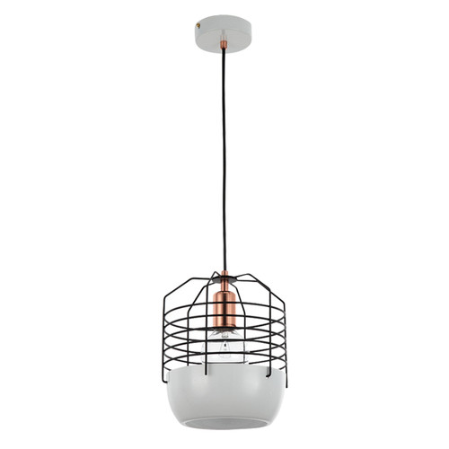 Replica Jonah Takagi Bluff City Pendant - Small - White Base with Black Cage