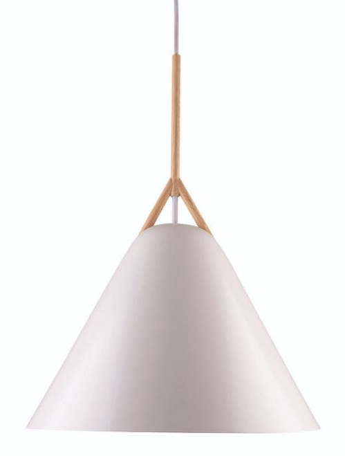 Barron Matt White Cone Pendant Light - Large