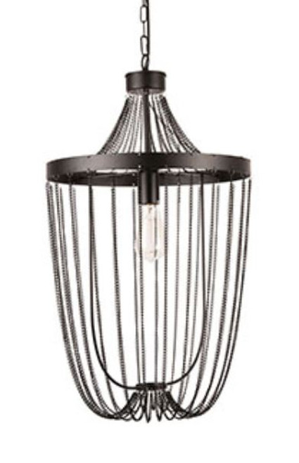 Thalia Black Chain 1 Light Pendant Light