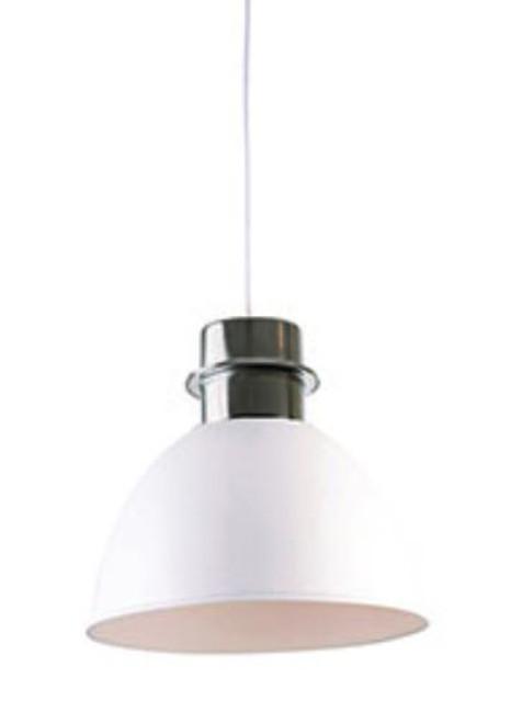 Clayton White Dome Pendant Light - Large