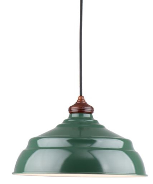 Harley Gloss Green Metal Pendant Light