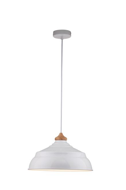 Harley Gloss White Metal Pendant Light