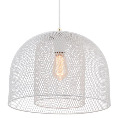 Newford Matt White Mesh Pendant Light