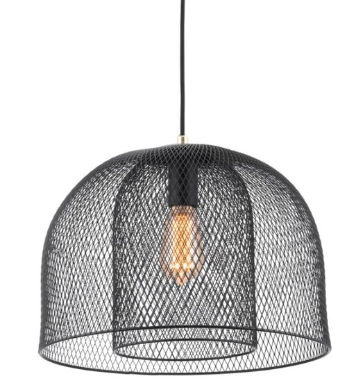 Newford Matt Black Mesh Pendant Light