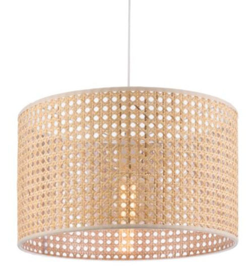 Zia Natural Woven Rattan Pendant Light - Large