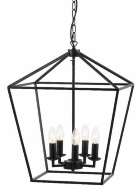 York 5 Light Candelabra Lantern Pendant Light
