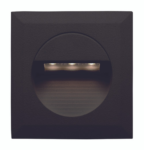 Bly Recessed Black LED Square Step Light