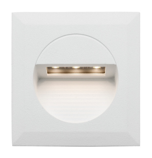 Bly Recessed White LED Square Step Light
