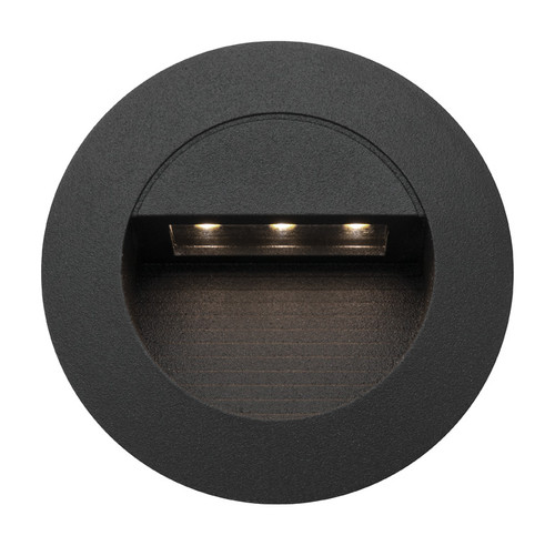 Bly Recessed Black LED Round Step Light