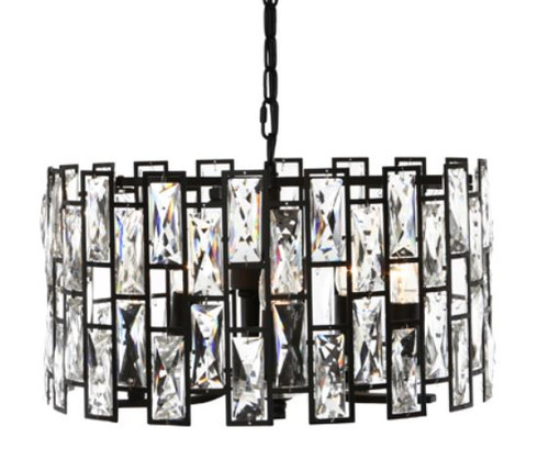 Sasha 5 Light Crystal Drops Pendant Chandelier