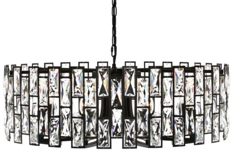 Sasha 8 Light Crystal Drops Pendant Chandelier
