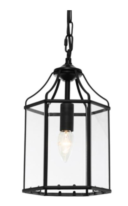 Arcadia Black 1 Light Pendant