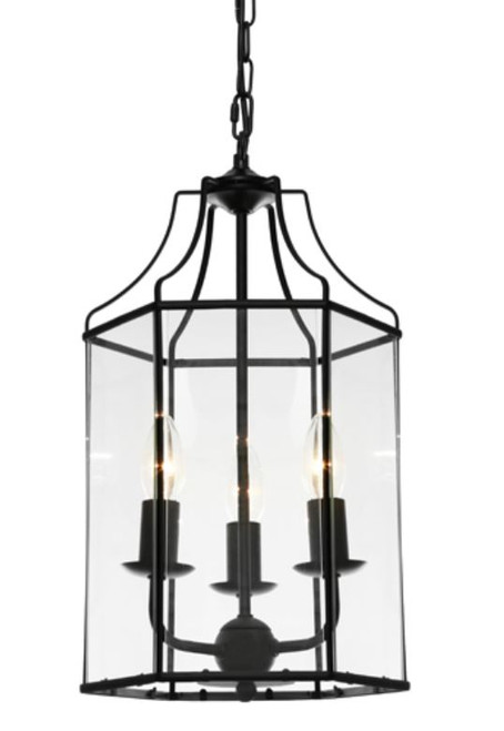 Arcadia Black 3 Light Pendant