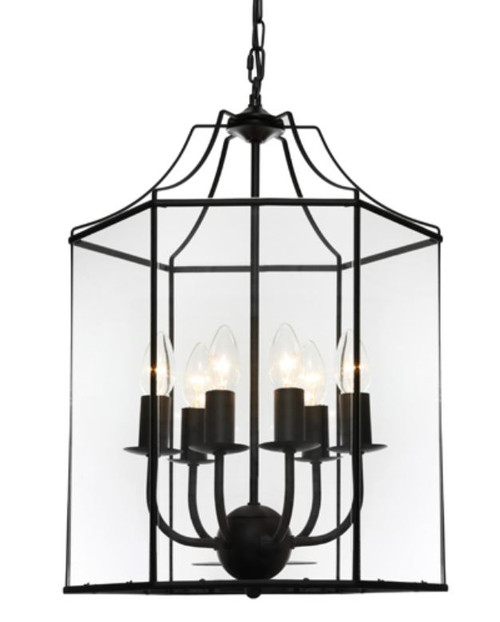 Arcadia Black 6 Light Pendant
