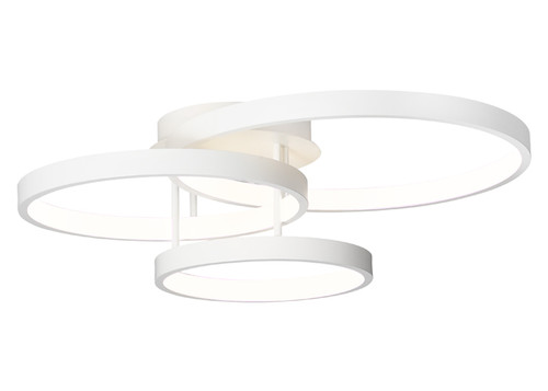 Zaida 3 Light White Ring Ceiling Light