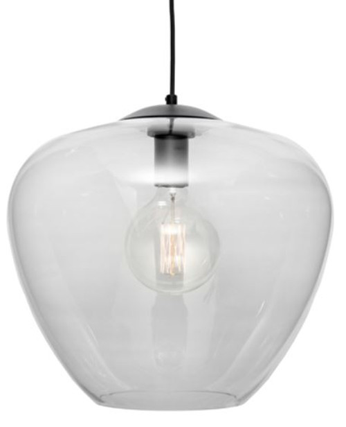 Selena 1 Light Clear Bell Pendant Light - Large
