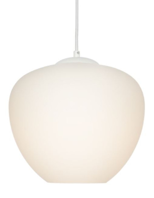 Selena 1 Light White Bell Pendant Light - Large