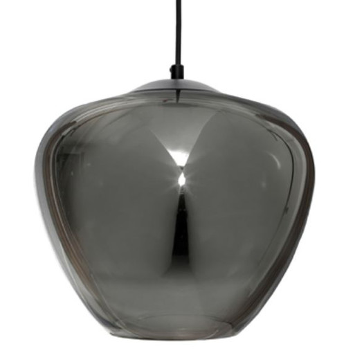 Selena 1 Light Black Bell Pendant Light - Large