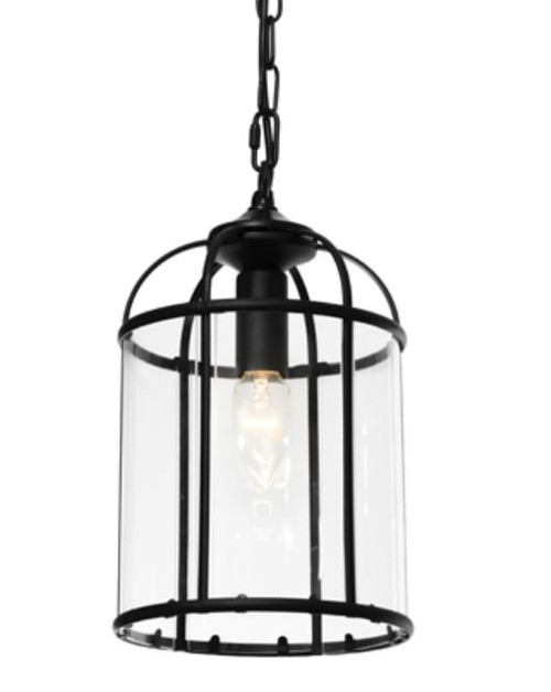 Coakley 1 Light Black Curved Bell Pendant Light