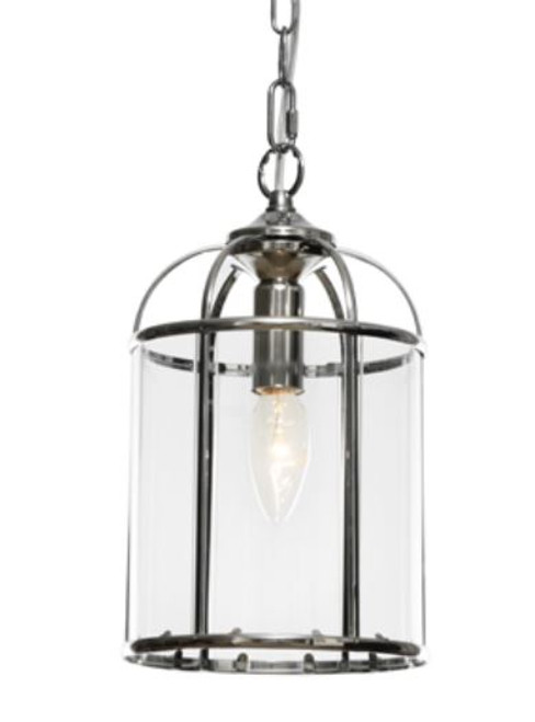 Coakley 1 Light Chrome Curved Bell Pendant Light
